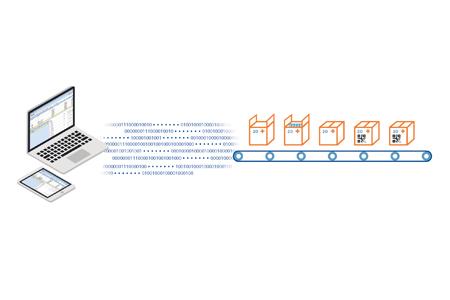 Prikaz proizvodne recepture z pomočjo ikon