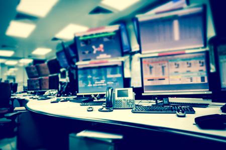 Prikaz nadzorne sobe za izvajanje avtomatizacije in digitalizacije nad procesi