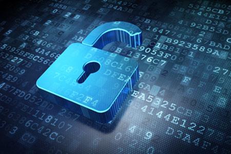 Simboličen prikaz zagotavljanja integritete podatkov kot ključavnico