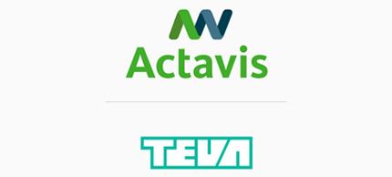 Logotipa Actavis in Teva