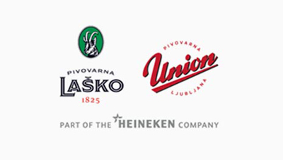 Logotip pivovarna Lasko in Union
